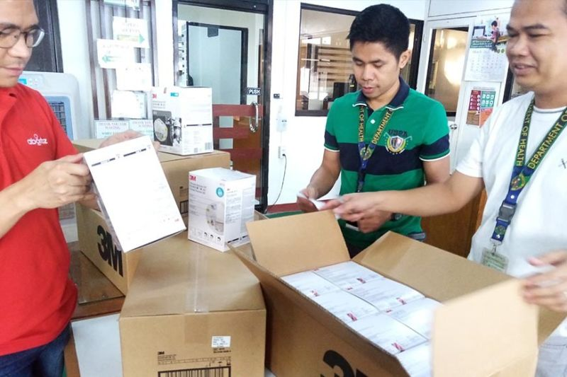 Last March 18, the Aboitiz Group, led by its CSR arm Aboitiz Foundation, turned over 5,700 N95 masks to representatives of the Department of Health (DOH) and 700 Research Institute for Tropical Medicine. (Contributed photo)