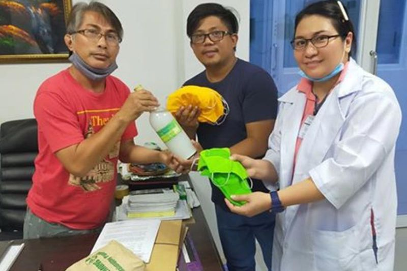 PAMPANGA. Researchers from Central Luzon State University (CLSU) produced local ethanol and hand sanitizer using nanotechnology. This is CLSU's response to scarcity of those products in the market following the outbreak of the coronavirus disease that led to the declaration of State of Public Health Emergency and enforcement of a Luzon enhanced community quarantine. (Contributed photo)