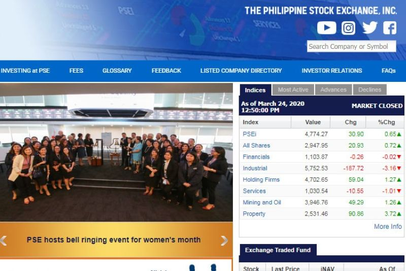 Image grabbed from PSE website