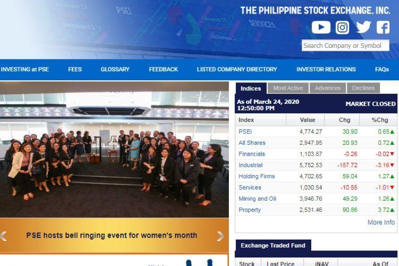 Image grabbed from PSE website
