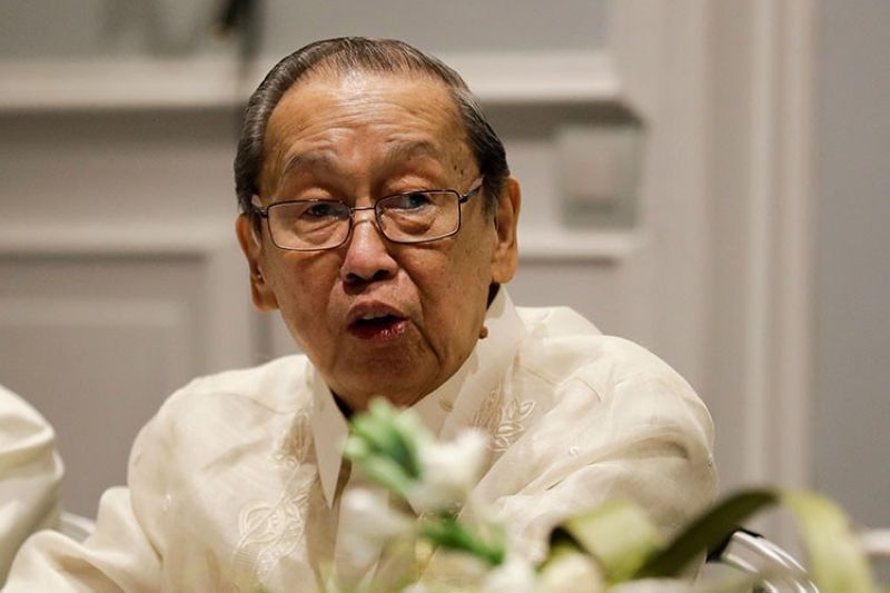 ROME. In this January 19, 2017, file photo, Communist Party of the Philippines leader Jose Maria Sison delivers his speech during the formal opening of the Philippines peace talks in Rome. (AP)
