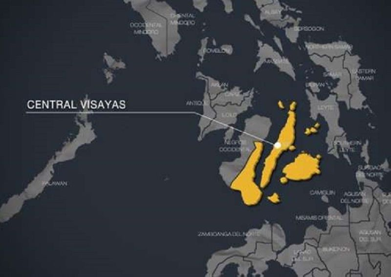 Central Visayas map.