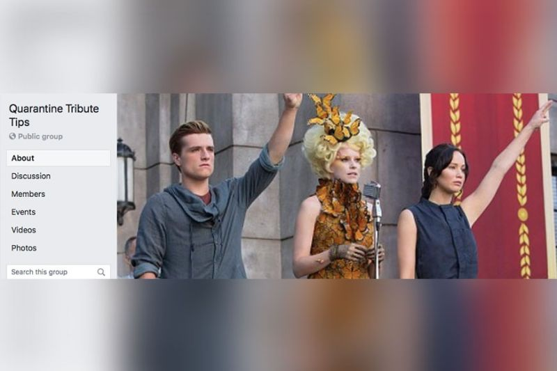 "MANILA. The group uses as its over photo an image showing a scene from the movie ""Catching Fire"", the second in ""The Hunger Games"" series."