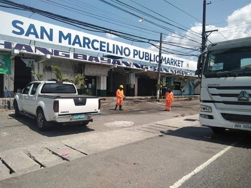 PAMPANGA. Department of Public Works and Highways District Engineering Offices, in partnership with the local government units, have started conducting disinfection operation in converged places in Central Luzon. (Contributed photo)