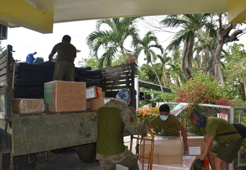 ZAMBOANGA. A photo handouts of the Western Mindanao Command (Westmincom) shows soldiers load medical supplies and food stuffs into a truck intended for the more than 100 Filipino repatriates under mandatory quarantine in Sibakel Island, Lantawan, Basilan. (SunStar Zamboanga)