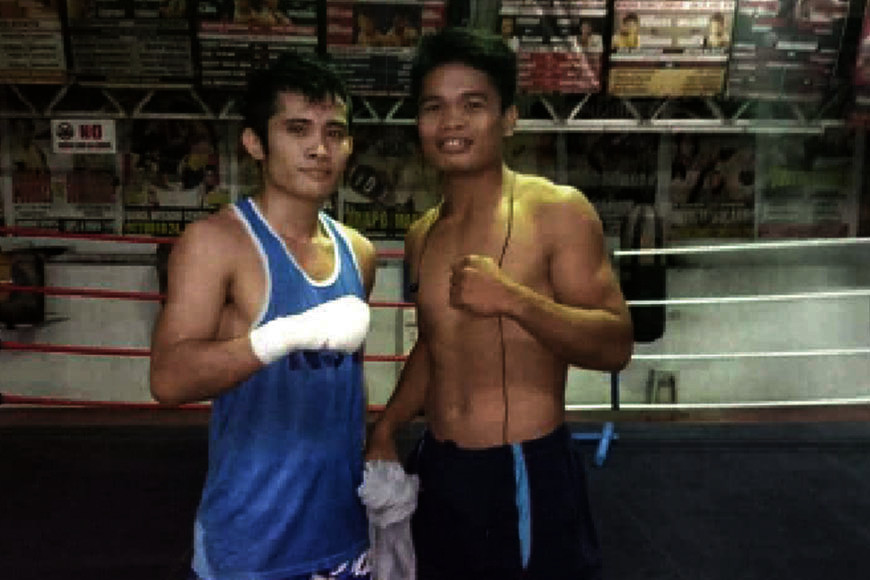 LIFE GOES ON.  Melvin Jerusalem (left) and Jonas Sultan (right) continue to train in ALA Gym after they failed to go home before the closing of borders and the enhanced community quarantine in Cebu. (Contributed Photo)