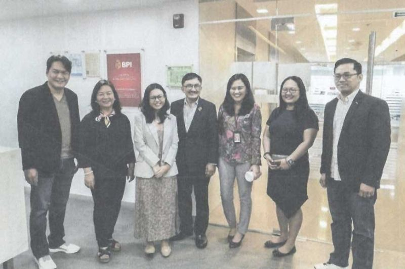 BANK OF THE PHILIPPINE ISLANDS/BPI FOUNDATION. The Cebu Business Month 2020 team with BPI corporate communications representative.
