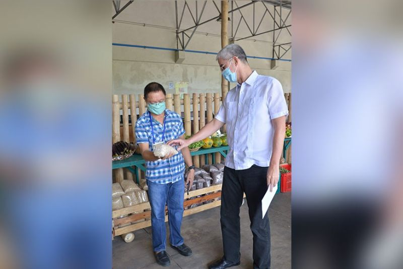 BACOLOD. Governor Eugenio Jose Lacson (right) with Provincial Agriculturist Japhet Masculino at the opening of the