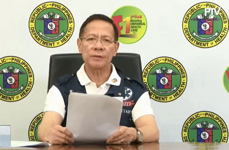 MANILA. Department of Health Secretary Francisco Duque in a virtual presser Thursday, April, 2, 2020. (Screenshot from PTV video)