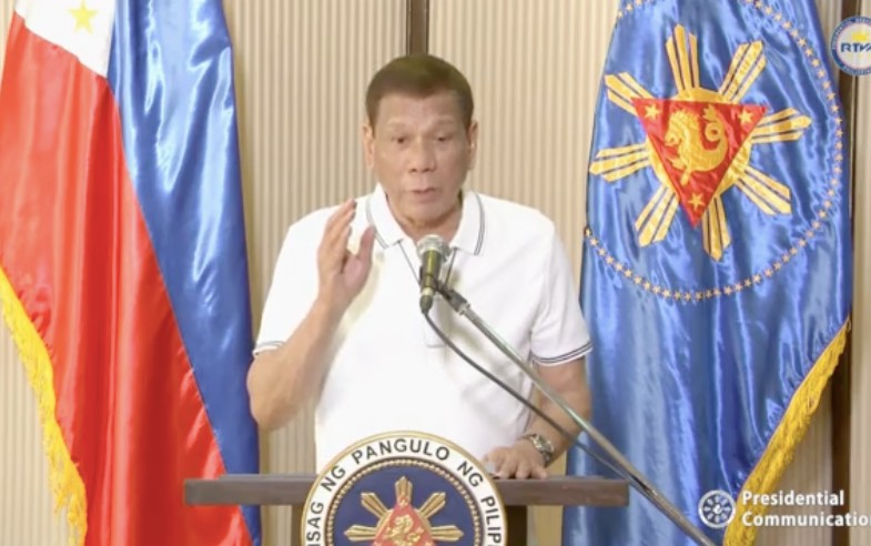 Photo grabbed from Malacañang video