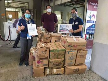 MANILA. The Office of the Vice President sends boxes of food and other assistance to the Jose Reyes Memorial Medical Center. (Photo from VP Leni Robredo's Facebook)