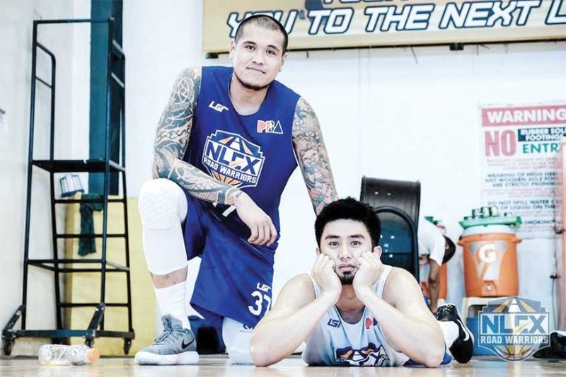 BEST OF HIS ERA.  JR Quiñahan (right) earned the nickname Baby Shaq in helping the University of the Visayas go undefeated in his college career. (Contributed Photo)