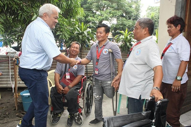 PAMPANGA. The City Government of Angeles led by Mayor Carmelo 'Pogi' Lazatin, Jr. earmarked PP5 million as financial assistance to about 5,000 persons with disabilities. (Photo by AC-CIO)