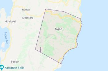 Mapa sa Argao, Cebu. (Google Maps)