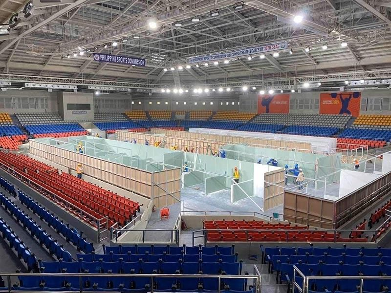 PAMPANGA. The Rizal Memorial Sports Complex-Ninoy Aquino Stadium in Manila City is being transformed into a quarantine site. (Contributed photo)
