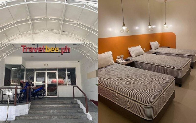 CEBU. Travelbee Inn located on Don Gil Garcia St., Cebu City has offered 30 rooms for free to frontline workers. (Photos courtesy of Cebu City PIO)