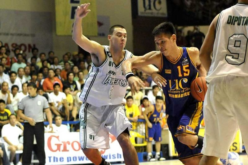TOUGH DEFENDER: Six-time PBA MVP June Mar Fajardo says Greg Slaughter always gave him a difficult time during their encounter in the Cebu Schools Atheltic Foundation Inc. (SunStar File Photo)