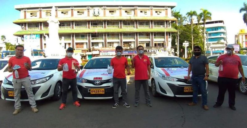 ZAMBOANGA. City Hall photo handouts shows the taxi units the city government hires to serve chronic disease patients amid the imposition of the enhanced community quarantine due to the Covid-19 crisis. (SunStar Zamboanga)