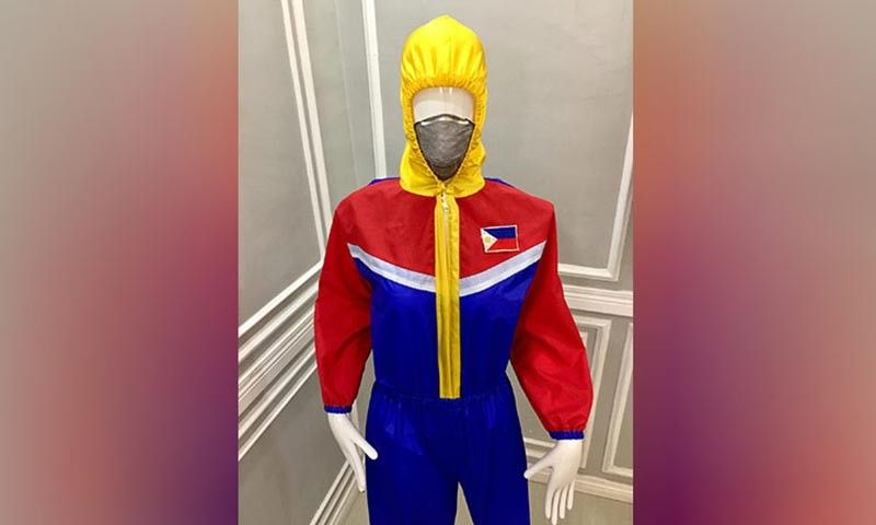 CAGAYAN DE ORO. Kagay-anon fashion designer Guela Ampong, with the help of Obstetrician-Gynecologist Dr. Jamillah Watamama, designed and created personal protective equipment for frontline healthcare workers in Cagayan de Oro City. Among the designs is a Philippine Flag-inspired PPE as a tribute for the frontliners. (Contributed photo)