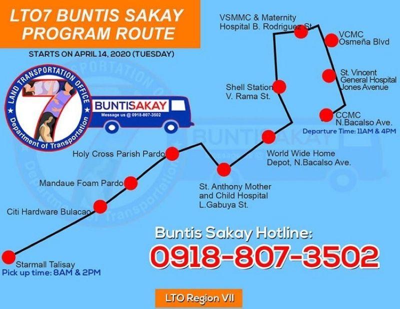 Ania ang ruta sa Buntis Sakay Route sa Land Transportation Office.