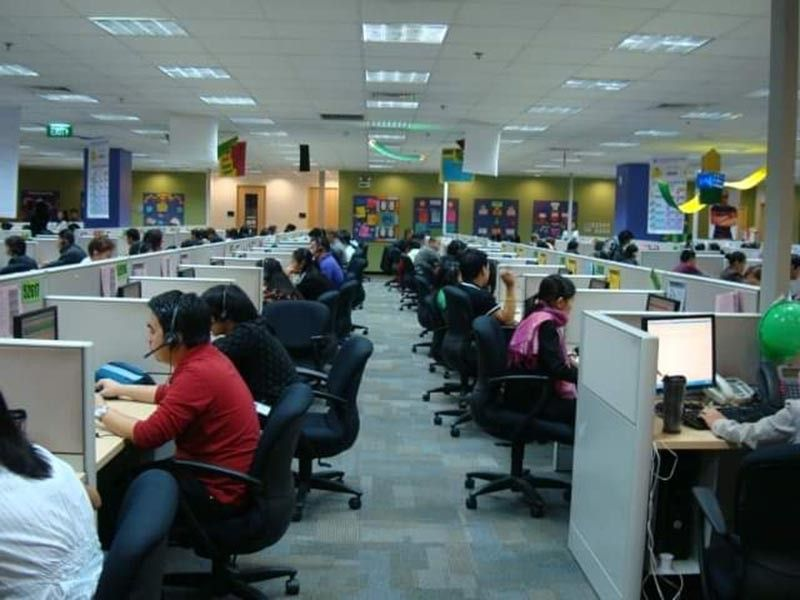 BACOLOD. A production floor of a business process outsourcing (BPO) firm in Bacolod City. (File photo)