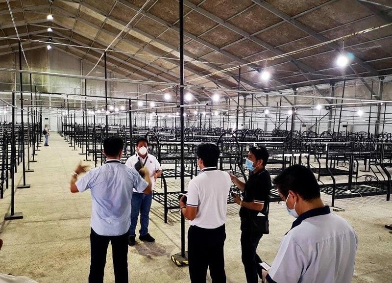PAMPANGA. The Department of Public Works and Highways has begun preparations in transforming the Philippine Arena complex into a quarantine facility initially catering to about 440 coronavirus disease patients with mild or no symptoms. (DPWH photo)