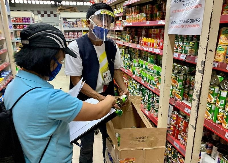 BAGUIO. Personnel from Department of Trade and Industry-Cordillera visit establishments in the region to check compliance on the price freeze order. Some establishments (not this shown in photo) were issued Letters of Inquiry (LOI) for noncompliant to the price freeze order. (Photo by Art Tibaldo)