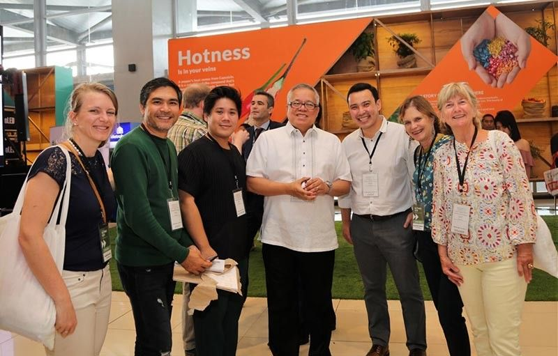 PAMPANGA. (L-R) Silva Cacao Chief Cacaopreneur Katrien Delaet, Auro Chocolate Davao Operations Manager Louie Cena, Auro Chocolate Co-founder Mark Ocampo, Trade Secretary Ramon Lopez, PTIC commercial counsellor Ben Uy, chocolate historian & author Valentine Tibere, and Silva Cacao founder Ms. Sylvie Guillaume. (Contributed photo)
