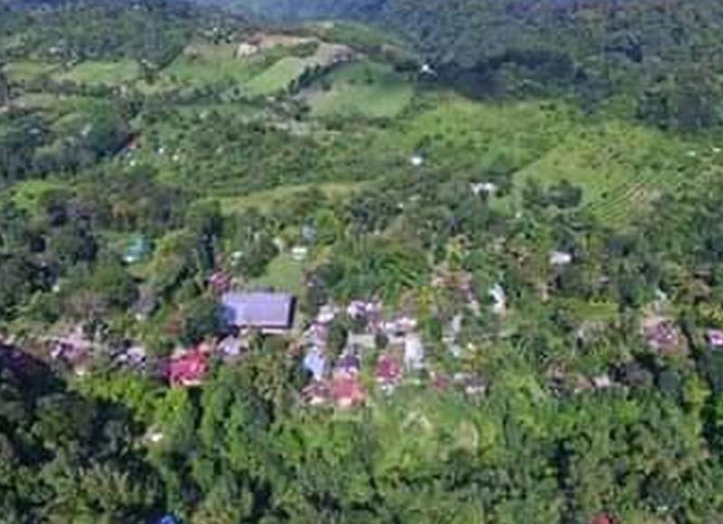 A portion of the Northern Negros Natural Park which has been reportedly encroached by illegal structures. (File photo)
