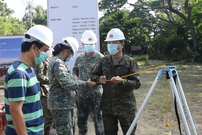 A modern hospital facility will rise at Camp Basilio Navarro that houses the Western Mindanao Command (Westmincom) headquarters in this city.  A photo handout shows Lieutenant General Cirilito Sobejana, commander of Westmincom (right), leads the groundbreaking ceremony Thursday, May 7, that signals the start of the project. (SunStar Zamboanga)
