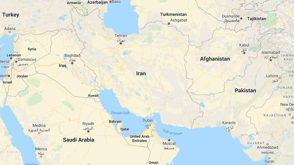 Iran map (Google map)