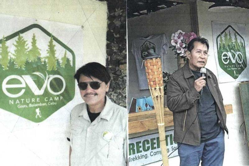 EVO nature camp owner Edwin V. Ortiz and Balamban Mayor Alex Binghay (left).