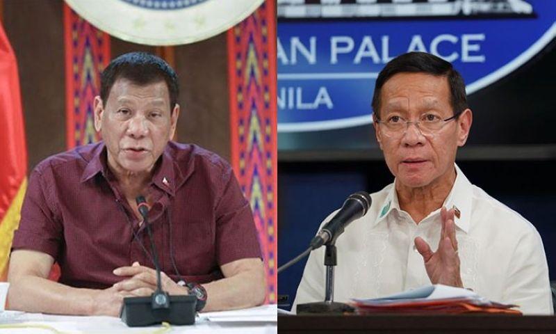 MANILA. President Rodrigo Duterte and Department of Health Secretary Francisco Duque III. (Photos from Presidential Communications)