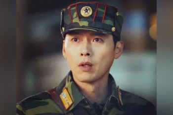 South Korean actor Hyun bin in the Crash Landing on You. (Screen grabbed via Netflix)