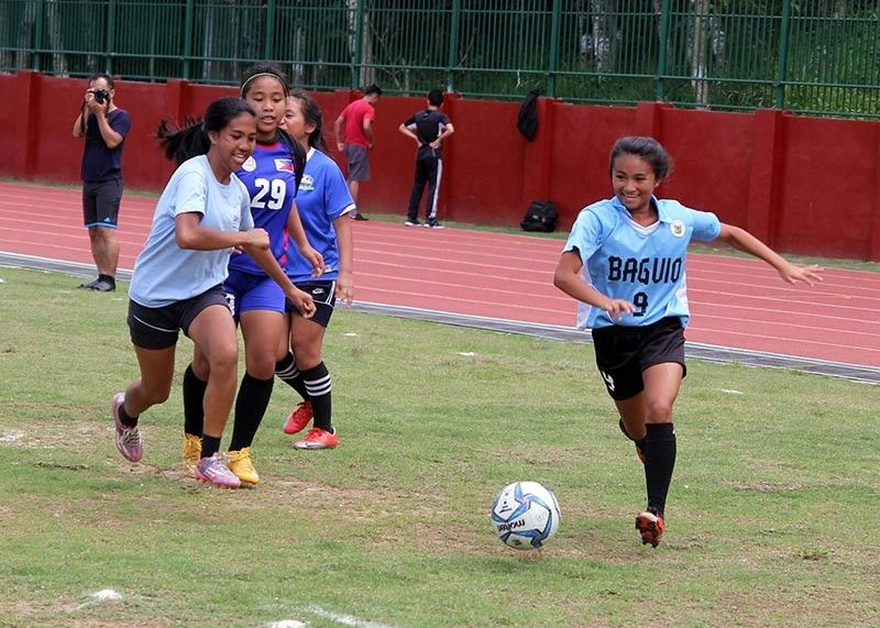 IN MOURNING. Local footballers are in mourning following the death of Celestina Beatrice Luna (not in photo) on Tuesday, May 27, after slipping into coma due to arteriouvenous malformation (AV). (SunStar Baguio file photo)