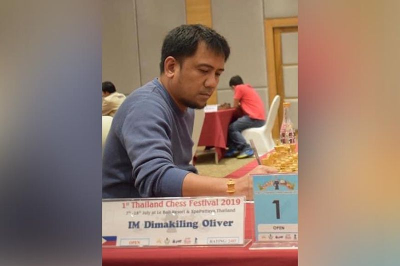 International master (IM) Oliver Dimakiling of Davao City wins the 1st Mindanao Online Blitz Chess960 Championship title on Sunday, May 31. (Gilbert Castro Pascua Facebook file photo)