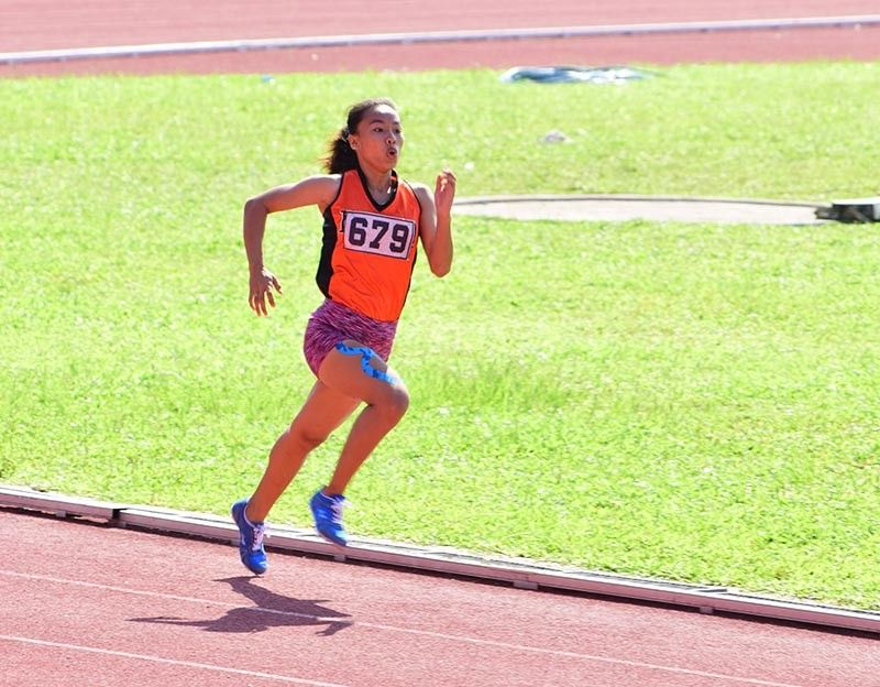 DAVAO. File photo shows a Davao City runner competing for Davao Region in the 2019 National Prisaa Games athletics competition held at the University of Mindanao track oval. (Marvin Ponce)