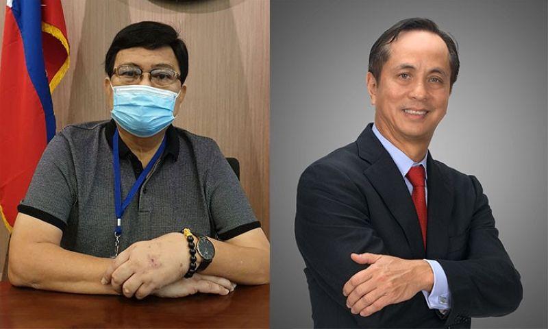 CEBU. Cebu City Mayor Edgardo Labella (left) and ABS-CBN chairman emeritus Gabby Lopez III. (SunStar/Wikimedia Commons)