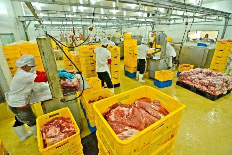 CEBU. Pork is processed at a production facility. (File Photo)