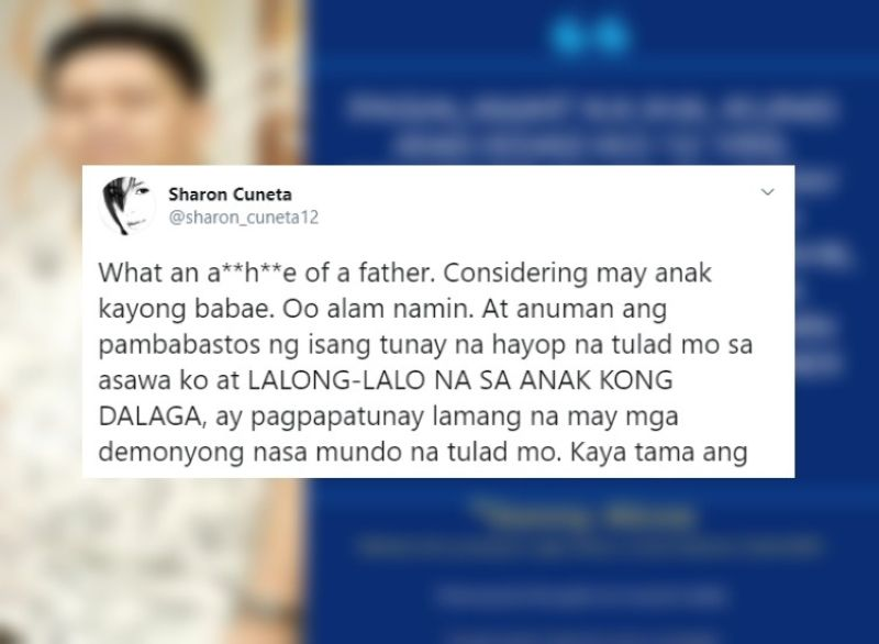 MEGASTAR REACTS. One of Sharon Cuneta's tweets at a certain Sonny Alcos, who remarked online that he would