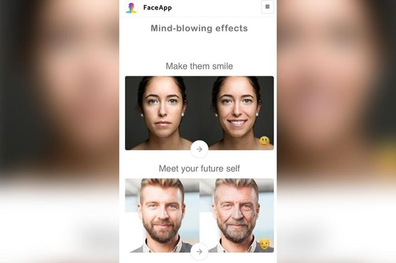 """POWERED BY AI. The FaceApp application has trended again in social networks after the free launch of the """"gender swap"""" filter. The new craze has generated the hashtag """"faceappchallenge"""" and received hundreds of thousands of shares on Facebook and Instagram. (Photo from Face App website)"""