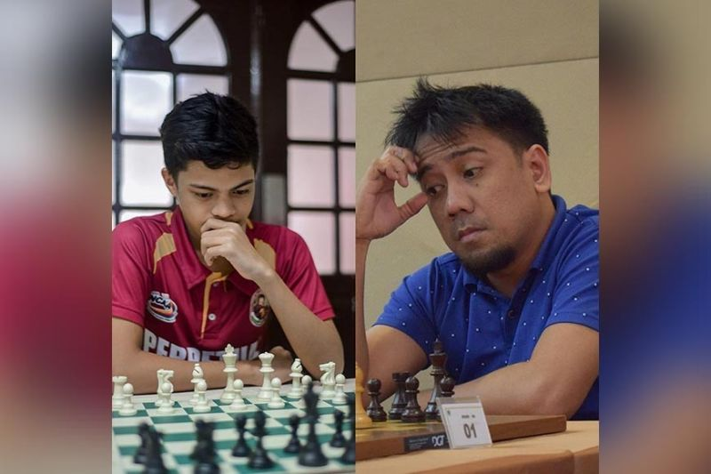 DAVAO. Ronald Canino of Misamis Oriental/Cagayan de Oro and international master (IM) Oliver Dimakiling of Davao All Stars lead their respective teams at the close of the first Davao All Stars Vs MisOr/CDO Chess Goodwill Match held over the weekend via lichess.org. (Photo grabbed from Ronald Canino and Gilbert Castro Pascua's Facebook accounts)