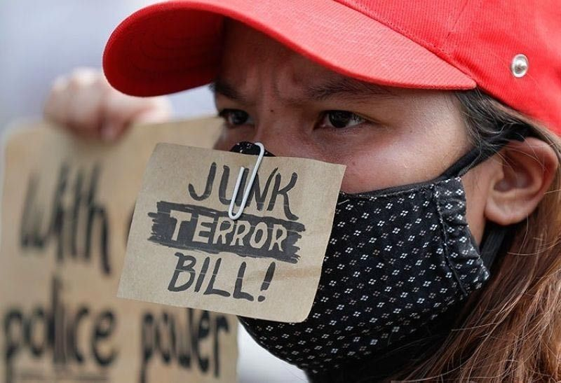 MANILA. Protests against the anti-terrorism bill have been held despite the prohibition on mass gatherings amid the Covid-19 pandemic. (File Photo)