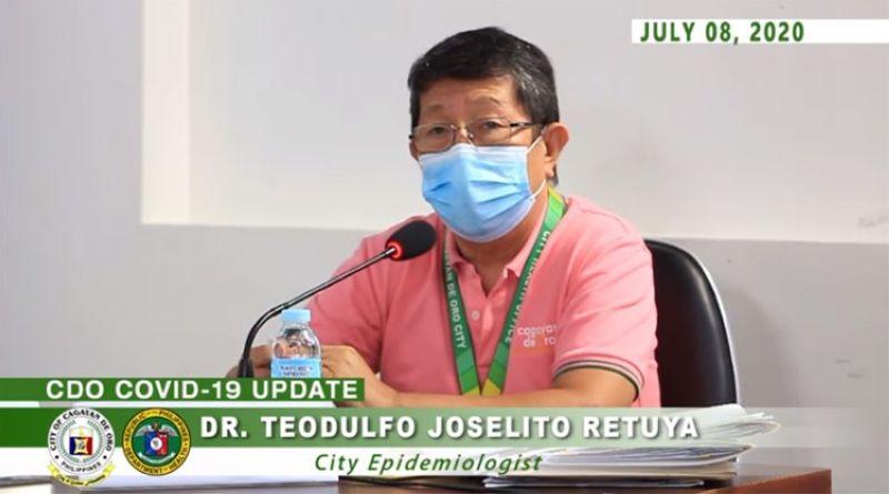 CAGAYAN DE ORO. City Health Office Epidemiologist Dr. Joselito Retuya. (Screenshot from Cagayan de Oro City Philippines' Facebook video)