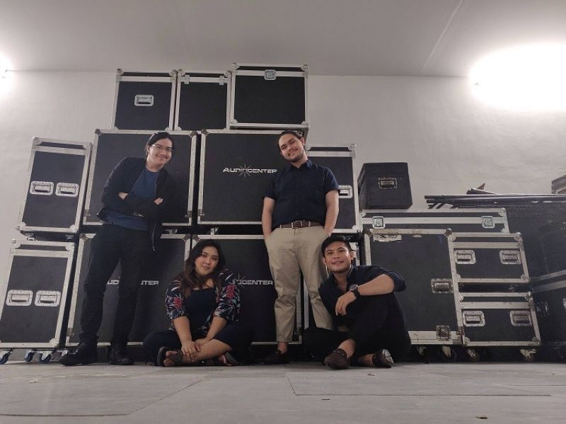 Backstage at a gig in SMX