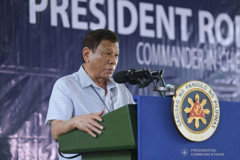 SULU. President Rodrigo Duterte addresses the troops in Jolo, Sulu on July 13, 2020. (Presidential Photo)