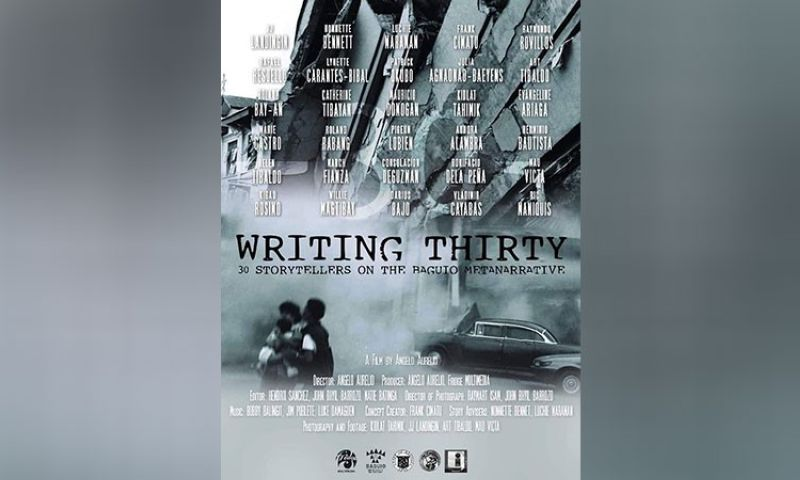 BAGUIO. Writing 30 poster