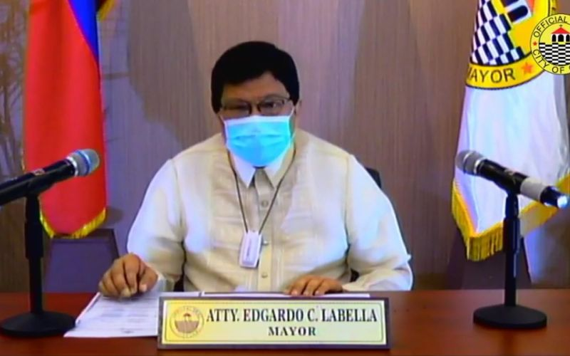 CEBU. Cebu City Mayor Edgardo Labella delivers his State of the City Address (Soca) on Wednesday, July 22, 2020. (Screenshot from Cebu City PIO video)