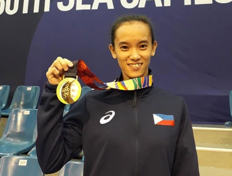 DAVAO. Southeast Asian Games 2019 women's arnis gold medalist Jezebel Morcillo hopes and pray that arnis will still be included in the final roster of events in the 31st SEA Games in Vietnam. (Contributed photo)