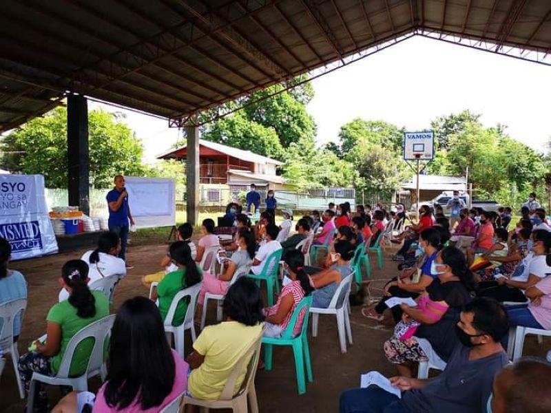 Some 124 MSMEs at Barangay Libas and Camp Clark in Isabela town avail the Livelihood Seeding Program - Negosyo Serbisyo sa Barangay of the Department of Trade and Industry. (Contributed photo)